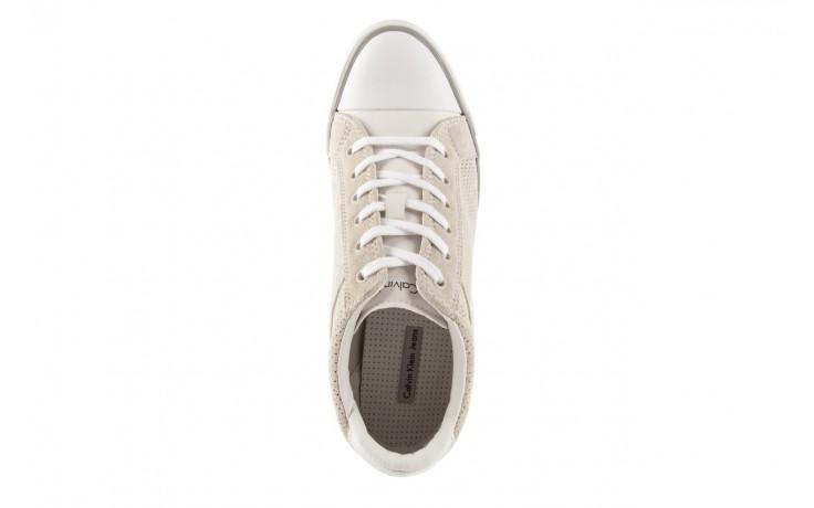 Calvin klein jeans voss perf suede smooth white - calvin klein jeans - nasze marki 4