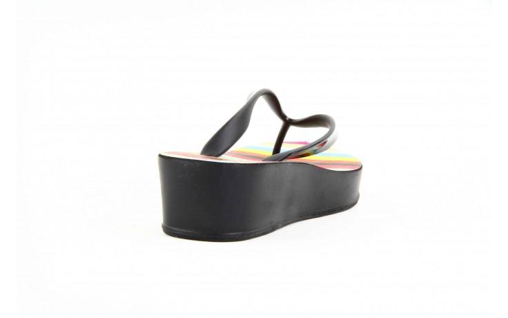Klapki dijean 256 779 black stripes, czarny, guma - piankowe - klapki - buty damskie - kobieta