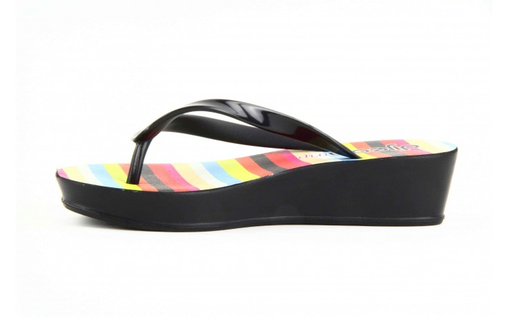 Klapki dijean 256 779 black stripes, czarny, guma - piankowe - klapki - buty damskie - kobieta 1