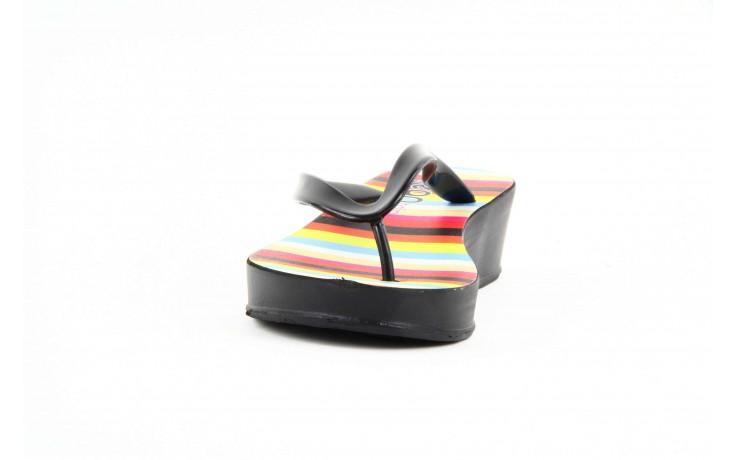 Klapki dijean 256 779 black stripes, czarny, guma - piankowe - klapki - buty damskie - kobieta 2