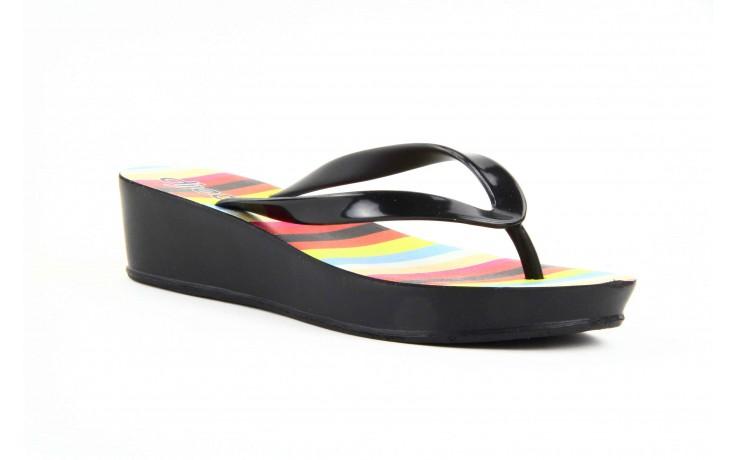 Klapki dijean 256 779 black stripes, czarny, guma - piankowe - klapki - buty damskie - kobieta 3