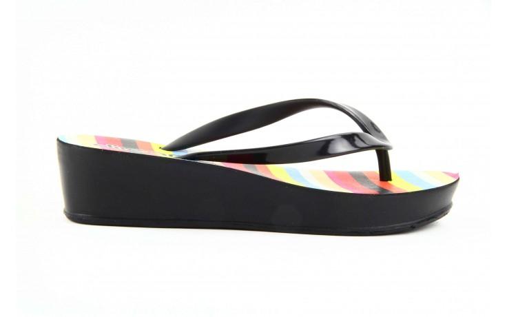 Klapki dijean 256 779 black stripes, czarny, guma - piankowe - klapki - buty damskie - kobieta 4
