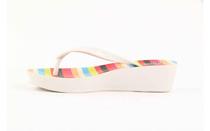 Klapki dijean 256 779 white listras, białe, guma - piankowe - klapki - buty damskie - kobieta 1