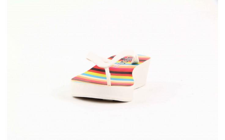 Klapki dijean 256 779 white listras, białe, guma - piankowe - klapki - buty damskie - kobieta