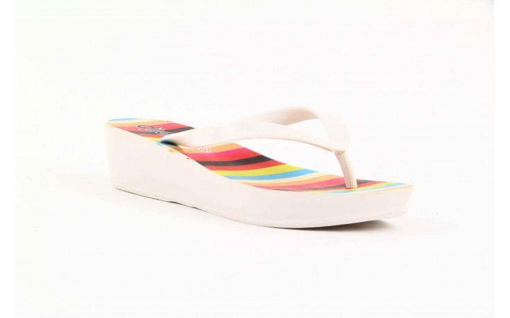 Klapki dijean 256 779 white listras, białe, guma - piankowe - klapki - buty damskie - kobieta 3