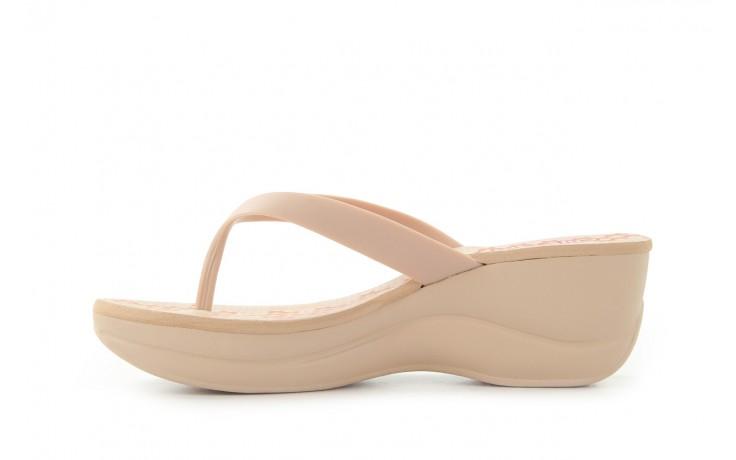 Klapki dijean 260 002 skin vitral, beż, guma - na koturnie - klapki - buty damskie - kobieta 2