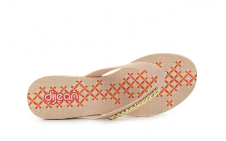 Klapki dijean 260 002 skin vitral, beż, guma - na koturnie - klapki - buty damskie - kobieta 4
