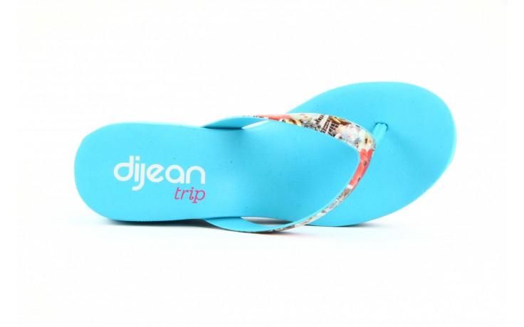 Klapki dijean 260 718 ocean, niebieski, guma - piankowe - klapki - buty damskie - kobieta 3