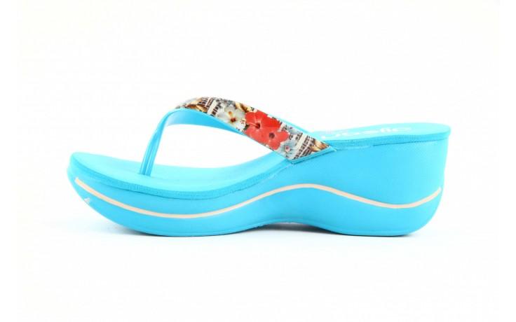 Klapki dijean 260 718 ocean, niebieski, guma - piankowe - klapki - buty damskie - kobieta 2