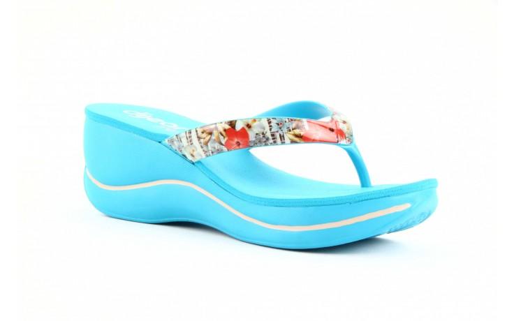 Klapki dijean 260 718 ocean, niebieski, guma - piankowe - klapki - buty damskie - kobieta 4