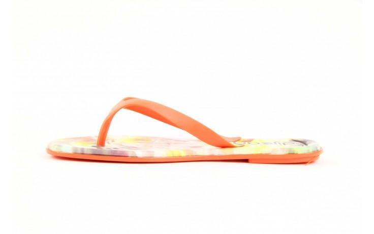 Klapki dijean 261 662 tangerine-flowr, pomarańczowy, guma 3