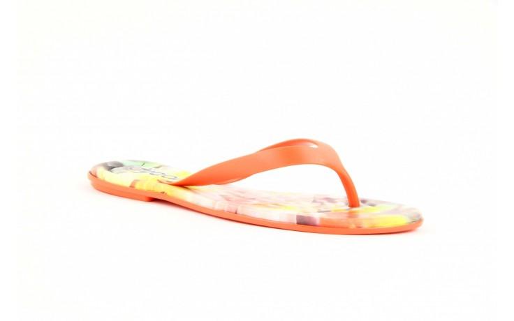 Klapki dijean 261 662 tangerine-flowr, pomarańczowy, guma 2
