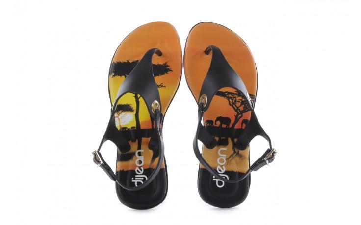 Sandały dijean 261 985 black safari, czarny, guma - dijean - nasze marki 4