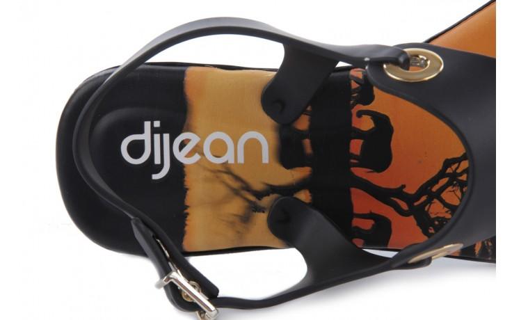 Sandały dijean 261 985 black safari, czarny, guma - dijean - nasze marki 5