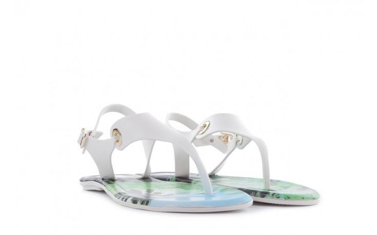 Sandały dijean 261 985 whit palm trees, biały, guma - japonki - sandały - buty damskie - kobieta 1