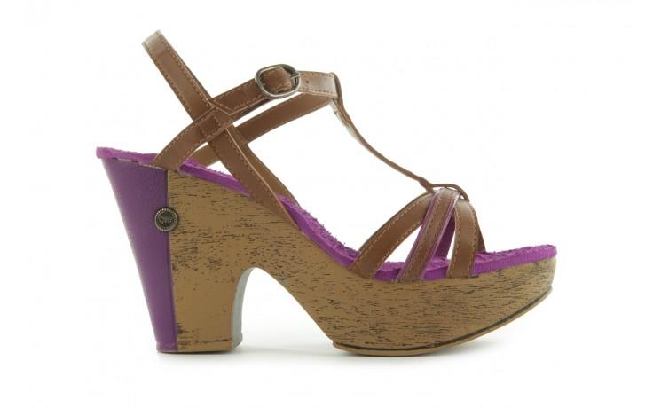 Sandały dijean 720 723 whisky/purple, brąz/fiolet, skóra ekologiczna - dijean - nasze marki