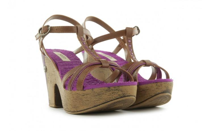 Sandały dijean 720 723 whisky/purple, brąz/fiolet, skóra ekologiczna - dijean - nasze marki 1