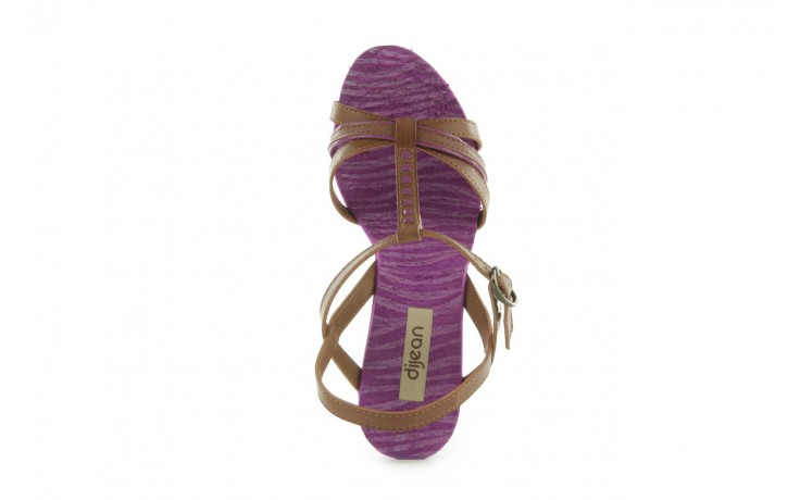 Sandały dijean 720 723 whisky/purple, brąz/fiolet, skóra ekologiczna - dijean - nasze marki 4
