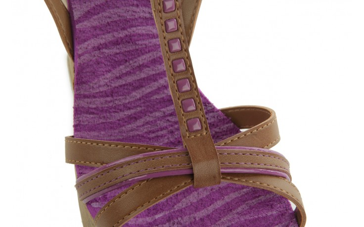 Sandały dijean 720 723 whisky/purple, brąz/fiolet, skóra ekologiczna - dijean - nasze marki 5