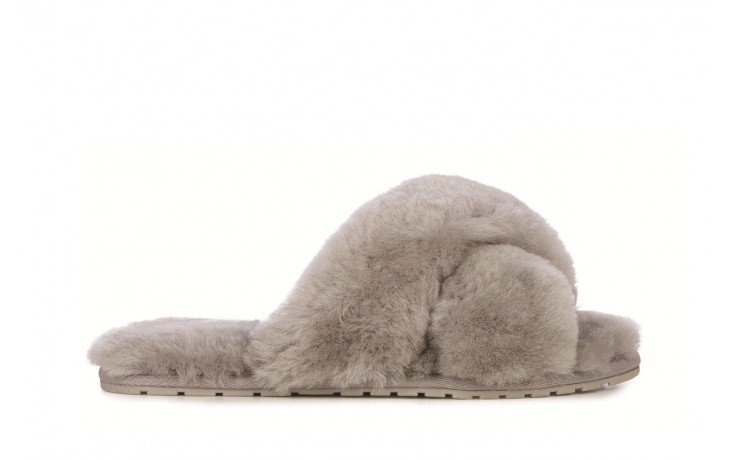 Klapki emu mayberry dove grey, futro naturalne - emu - nasze marki