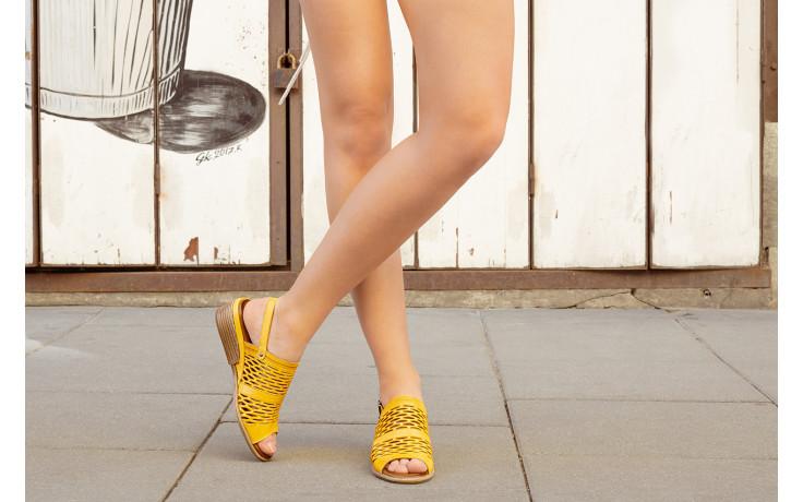 Sandały bayla-161 061 1600 noce 161200, żółty, skóra naturalna  - sandały - buty damskie - kobieta 8