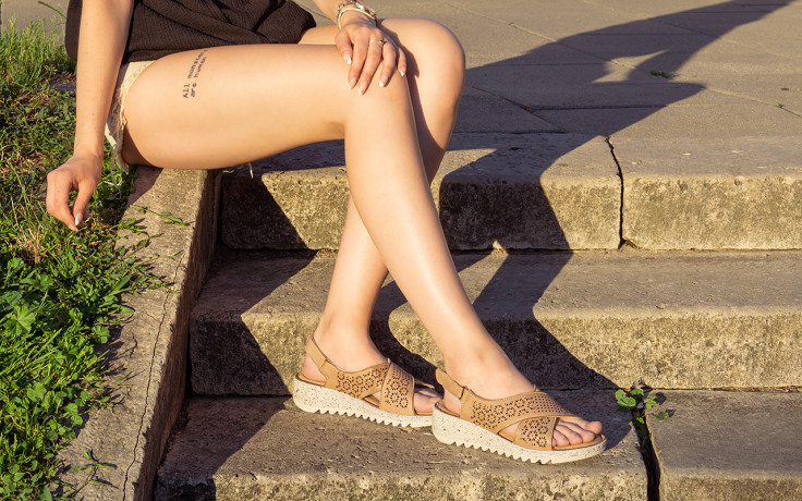 Sandały bayla-161 016 921 cappuccino 161192, brąz, skóra naturalna - sandały - buty damskie - kobieta 8