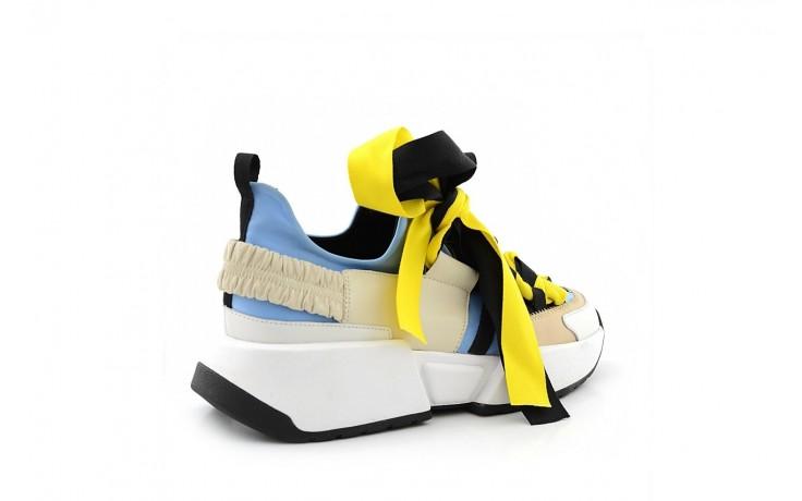 Sneakersy sca'viola e-17 l-blue, niebieski/ beż/ czarny, skóra naturalna  - sca`viola - nasze marki 1