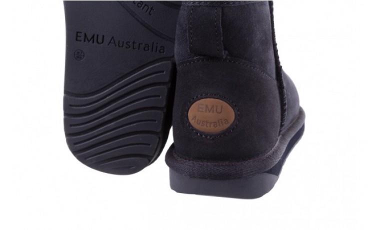 Śniegowce emu stinger micro midnight 19, granat, skóra naturalna 5