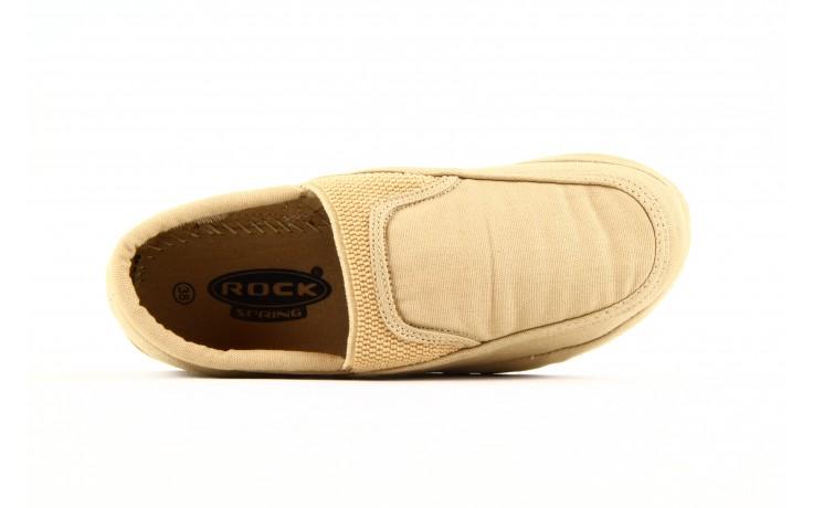 Półbuty fancy elastic beige, beż, materiał  - rock - nasze marki 1