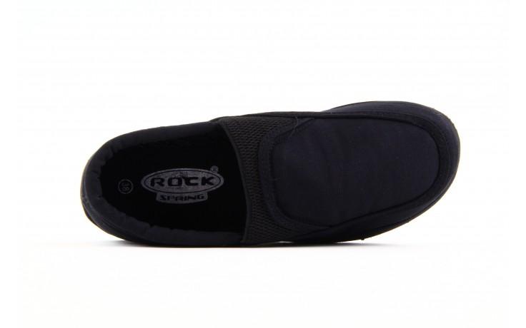 Półbuty fancy elastic black, czarny, materiał  - rock - nasze marki 4