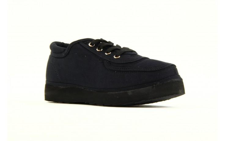 Półbuty fancy lace black, czarny, materiał 4