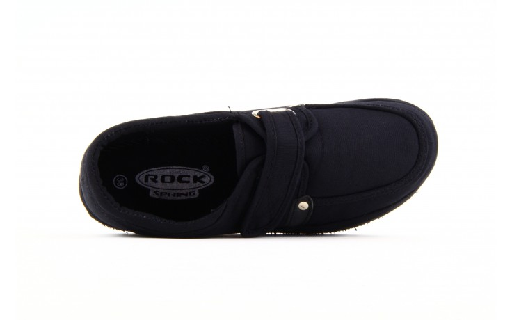 Półbuty fancy velcro black, czarny, materiał  - rock - nasze marki 1