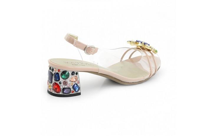 Sandały sca'viola g-25 nude, róż, silikon - na obcasie - sandały - buty damskie - kobieta 1