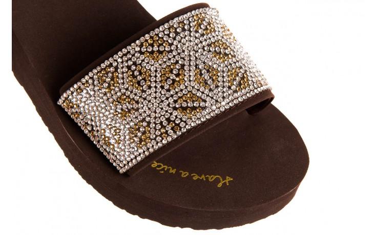 Klapki gioseppo andiara chocolate, brąz, guma - piankowe - klapki - buty damskie - kobieta 5