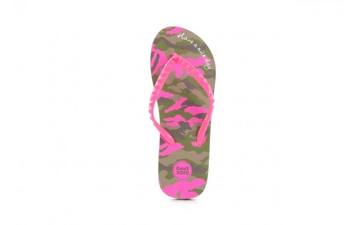 Klapki gioseppo frappe 1 fuchsia, róż, guma - piankowe - klapki - buty damskie - kobieta 3