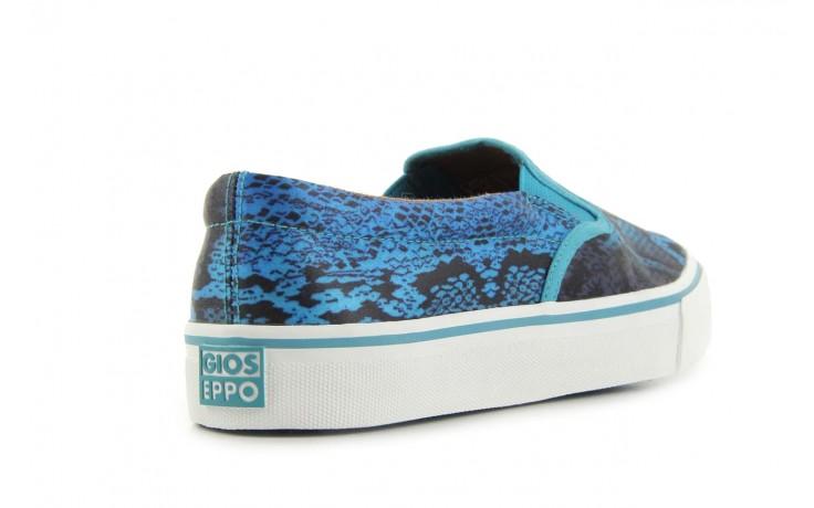 Półbuty gioseppo hapenning snake-blue, niebieski, materiał - gioseppo - nasze marki 3