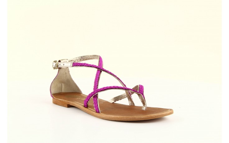 Sandały gioseppo jacobe fucshia, róż, skóra naturalna - gioseppo - nasze marki 3