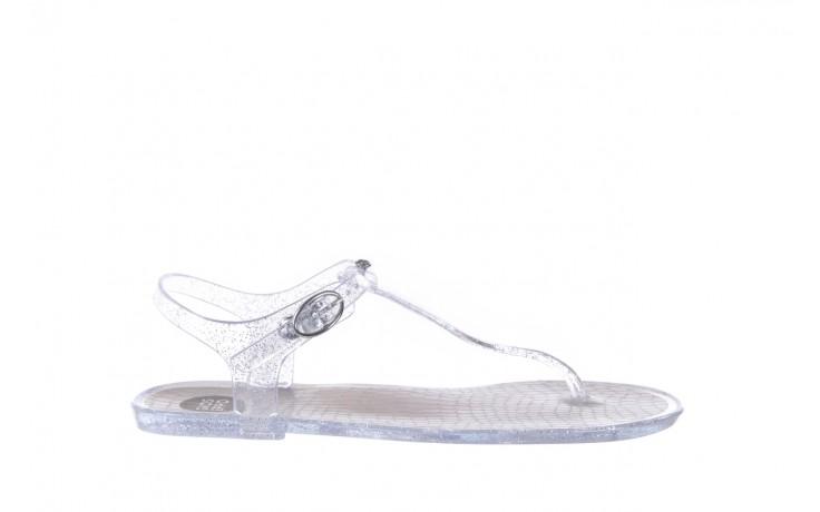 Sandały gioseppo lecce transparent silver, srebro, guma - gioseppo - nasze marki