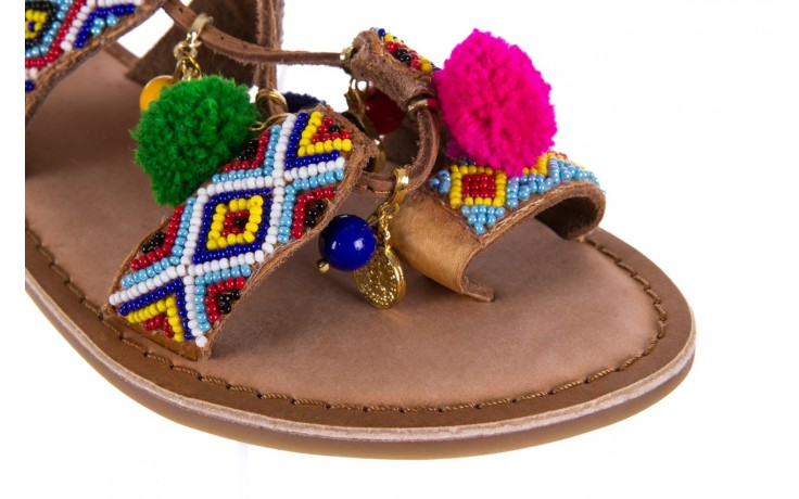 Sandały gioseppo omahas tan, wielokolorowy, skóra naturalna  - gioseppo - nasze marki 5