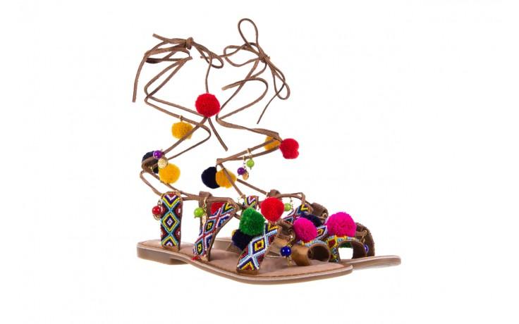 Sandały gioseppo omahas tan, wielokolorowy, skóra naturalna  - gioseppo - nasze marki 1