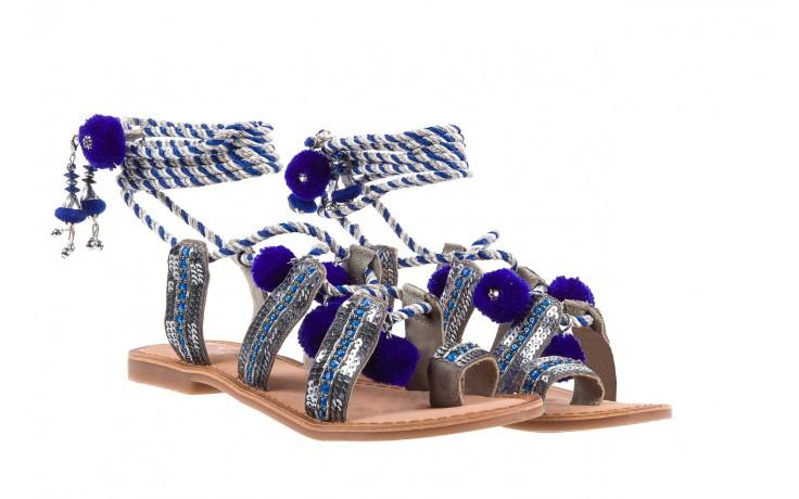 Sandały gioseppo yurak blue, granat, skóra naturalna  - sandały - dla niej - dodatkowe -10% 1