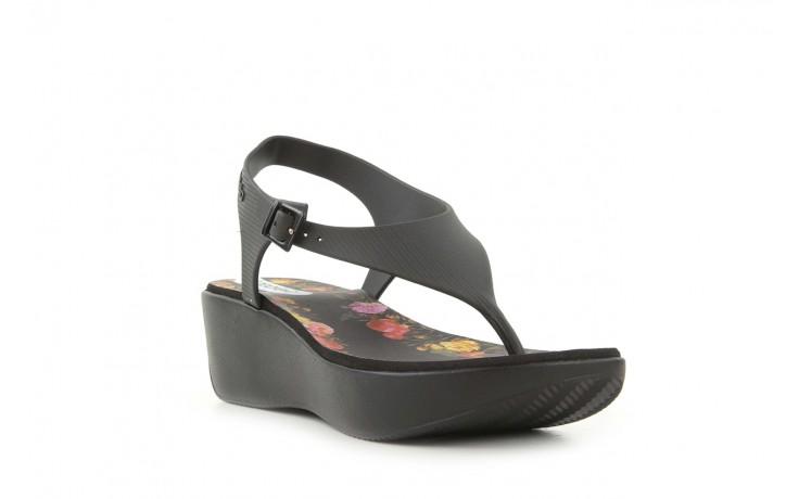 Sandały grazi 017 244 black flower, czarny, guma - dijean - nasze marki 1
