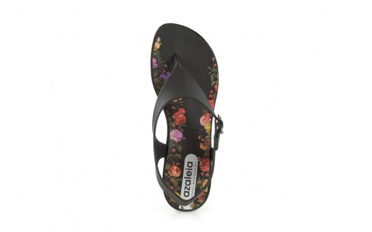 Sandały grazi 017 244 black flower, czarny, guma - dijean - nasze marki 3