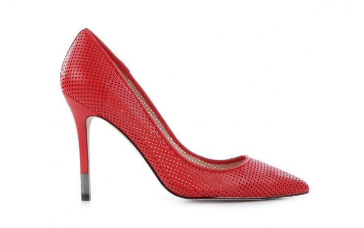 Czółenka guess fl2byy lea08 red, czerwony, skóra naturalna - guess - nasze marki