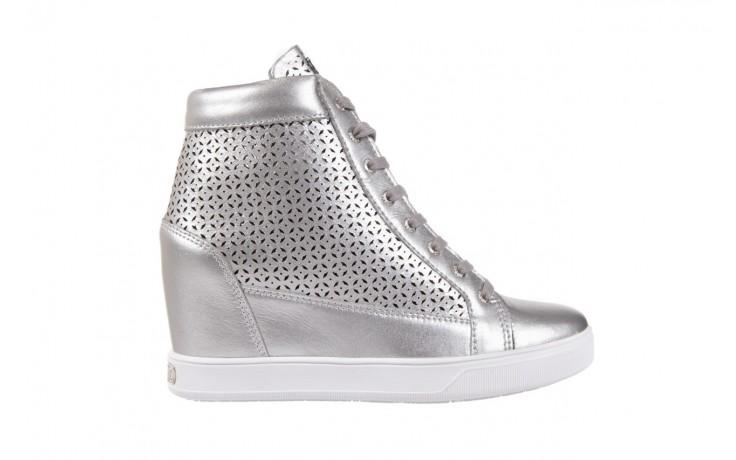 Sneakersy guess flfur2 lea12 silve, srebro, skóra naturalna  - sneakersy - buty damskie - kobieta