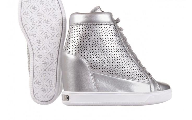 Sneakersy guess flfur2 lea12 silve, srebro, skóra naturalna  - sneakersy - buty damskie - kobieta 5