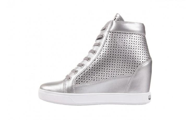 Sneakersy guess flfur2 lea12 silve, srebro, skóra naturalna  - sneakersy - buty damskie - kobieta 2