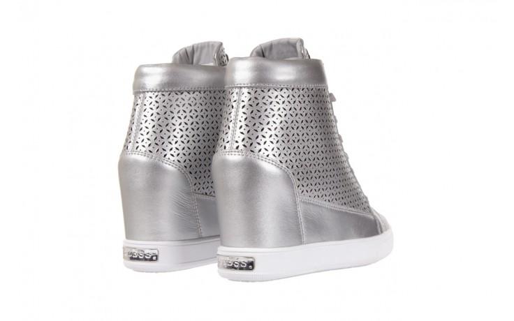 Sneakersy guess flfur2 lea12 silve, srebro, skóra naturalna  - sneakersy - buty damskie - kobieta 3