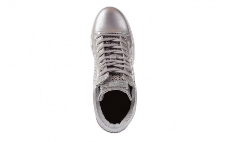 Sneakersy guess flfur2 lea12 silve, srebro, skóra naturalna  - sneakersy - buty damskie - kobieta 4