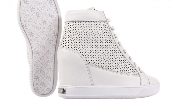 Sneakersy guess flfur2 lea12 white, biały, skóra naturalna  - guess - nasze marki 5